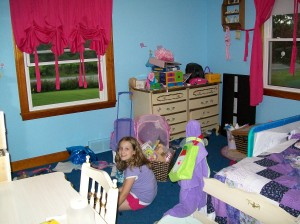 Before:  Princess-themed room.  Hmm, yes - that's what we'll call it.